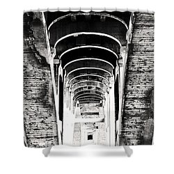 The Darkness Retreats Shower Curtain