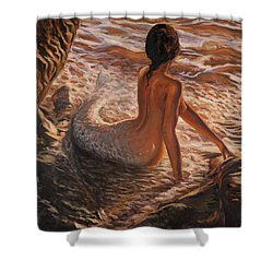 The Daughter Of The Sea Shower Curtain by Marco Busoni