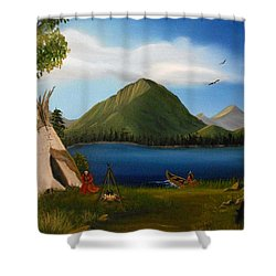Dawn Of Tohidu Shower Curtain by Sheri Keith