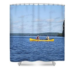Shower Curtain featuring the photograph the day in Bay  by Jieming Wang