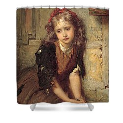 The Dead Goldfish Shower Curtain by George Elgar Hicks