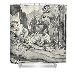 The Death Of Beowulf Shower Curtain by John Henry Frederick Bacon