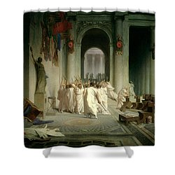 The Death Of Caesar Shower Curtain by Jean Leon Gerome