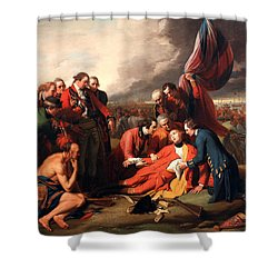 The Death Of General Wolfe Shower Curtain by Benjamin West