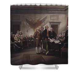 The Declaration Of Independence, July 4, 1776 Shower Curtain by John Trumbull