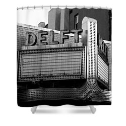 The Delft Marquette Mi Shower Curtain
