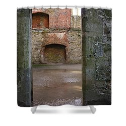 The Derelict Titchfield Abbey Hampshire Shower Curtain by Terri Waters