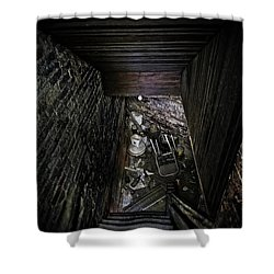 The Descent Shower Curtain by Brett Engle
