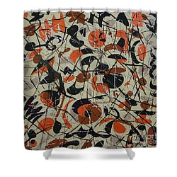 Shower Curtain featuring the painting The Desert In Fall by Mini Arora