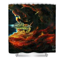 The Devil's Lair Shower Curtain by Murphy Elliott