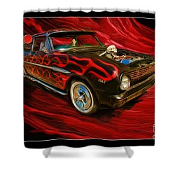 The Devil's Ride Shower Curtain