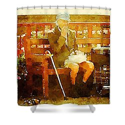 The Devonshire Man Shower Curtain