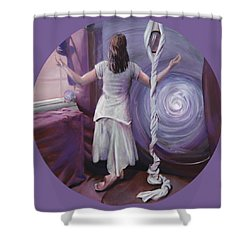 The Devotee Shower Curtain by Shelley Irish