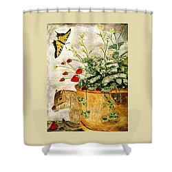 The Discovery Shower Curtain by Angela Davies