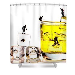 The Diving Little People On Food Shower Curtain