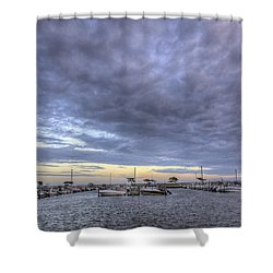 The Docks At Bay Shore Shower Curtain