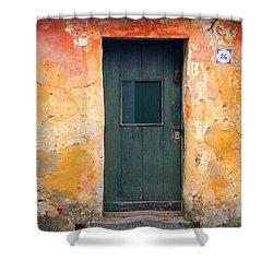 Shower Curtain featuring the photograph The Door by Bernardo Galmarini