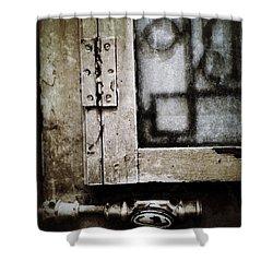 The Door Of Belcourt Shower Curtain by Natasha Marco