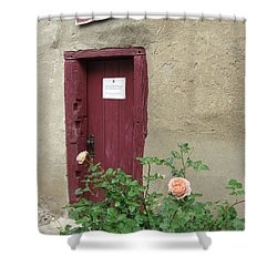 Shower Curtain featuring the photograph The Doorway by Pema Hou