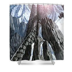The Dragon Gate Shower Curtain by Curtiss Shaffer