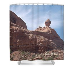 The Dragon Rider Shower Curtain