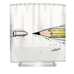 The Draw Shower Curtain