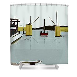 The Drawbridge   Number 4 Shower Curtain