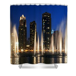 The Dubai Fountains Shower Curtain