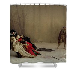The Duel After The Masquerade Shower Curtain by Jean Leon Gerome