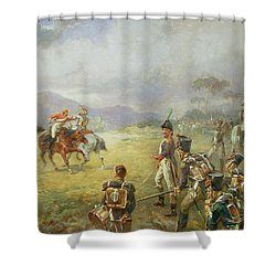 The Duel  Fair Play Shower Curtain by Robert Alexander Hillingford