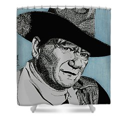 The Duke Shower Curtain by Cory Still