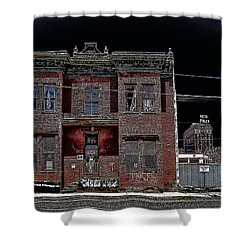 The Dumas Brothel - Butte Montana Shower Curtain by Daniel Hagerman