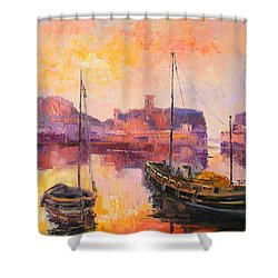 The Dunbar Harbour Shower Curtain