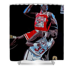 The Dunk Shower Curtain by Don Medina
