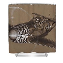 The Duxford Boys Drawing Shower Curtain by Wade Meyers