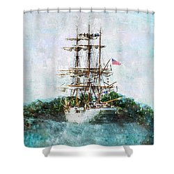 The Eagle Has Landed I Shower Curtain