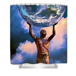 The Earth Is In Our Hands Shower Curtain