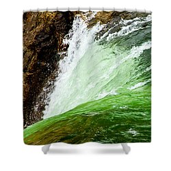 The Edge Shower Curtain by Bill Gallagher