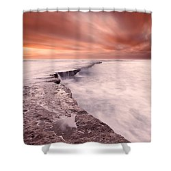 The Edge Of Earth Shower Curtain