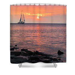 The Edith Becker Sunset Cruise Shower Curtain