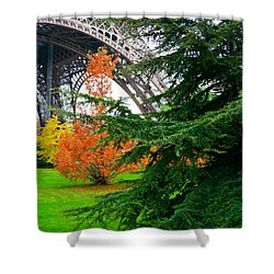 The Eiffel In Fall Shower Curtain