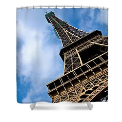 The Eiffel Tower From Below Shower Curtain