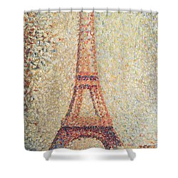 The Eiffel Tower Shower Curtain by Georges Pierre Seurat