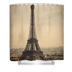 The Eiffel Tower In Paris France Shower Curtain
