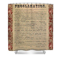 The Emancipation Proclamation Shower Curtain by American School