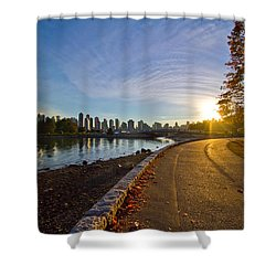 Shower Curtain featuring the photograph The Emerald City by Eti Reid