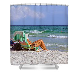 The Emerald Coast Shower Curtain by Charles Beeler