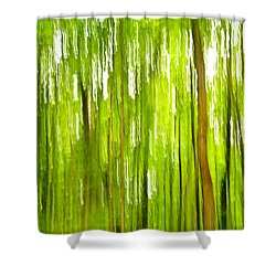 The Emerald Forest Shower Curtain by Bill Gallagher