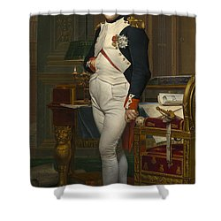 The Emperor Napoleon In His Study Shower Curtain by Mountain Dreams
