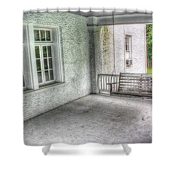 The Empty Porch Swing Shower Curtain